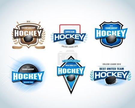 Hockey sport team logotype templates