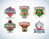American football logo templates