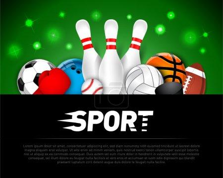 Sport design banner, sign