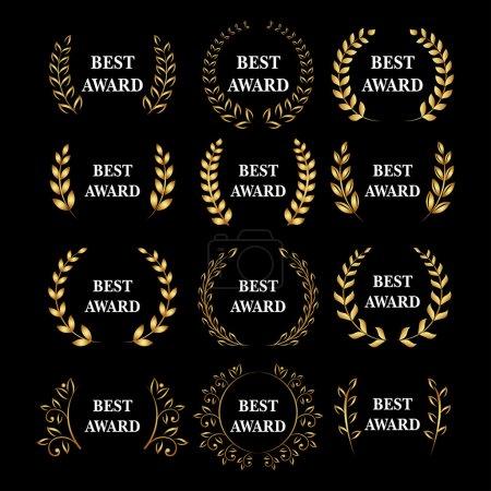 Best award laurel wreath set