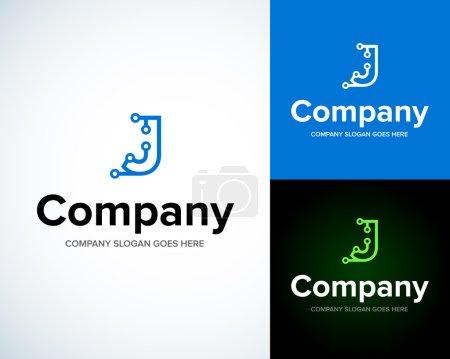Modern stylish logo with letter J