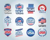 USA and made in USA icons set