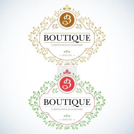 Boutique Luxury Vintage Logos.