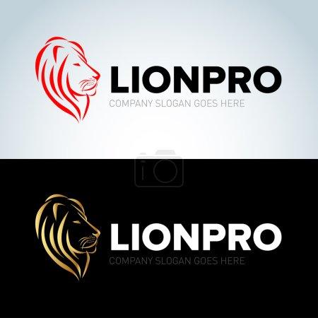 Lion head logos design
