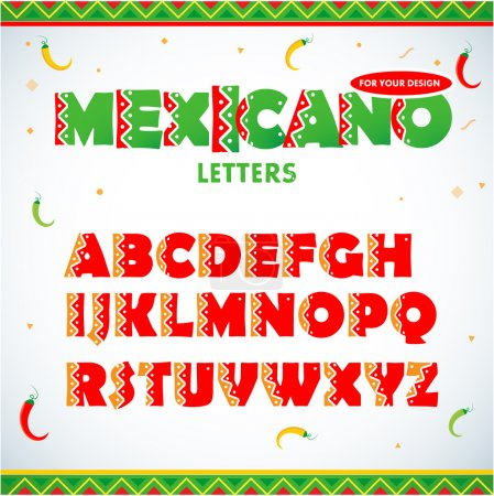 Mexican letters for for advertising