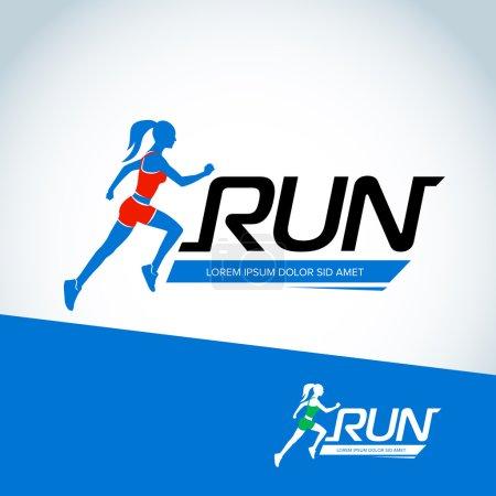 Run club logo template