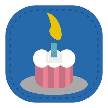 Baby icon birthday cake_Color
