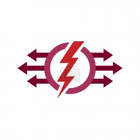 Logo Electricity Power Icon Design Symbol Abstract