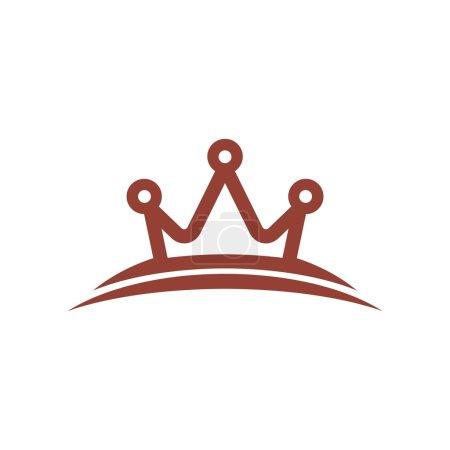 design logo crown gems creative color brown design