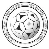 Graphic football or soccer logo Vector isolated illustration of a Football association or a sports event logo sign symbol