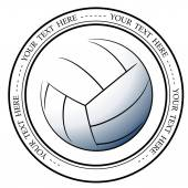 Graphic volleyball logo Vector isolated illustration of a basketball association or a sports event logo sign symbol