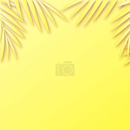 Illustration pour Fond d'été avec ombre de feuilles tropicales. Vecteur. - image libre de droit