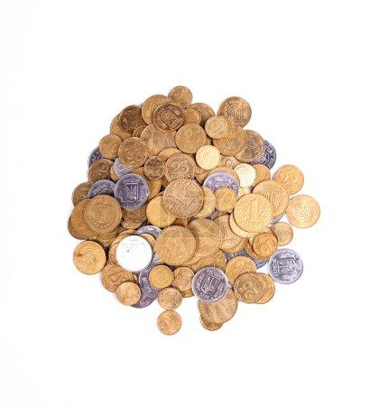 Bunch of ukrainian coins