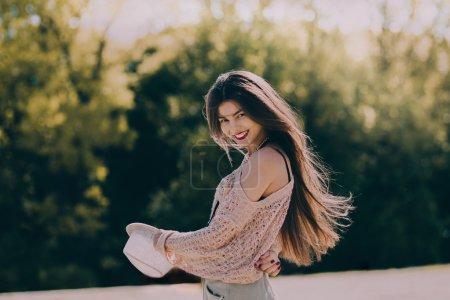 Smiling Retro woman