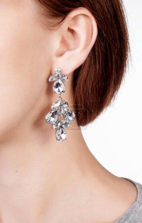 Earrings with crystal gems