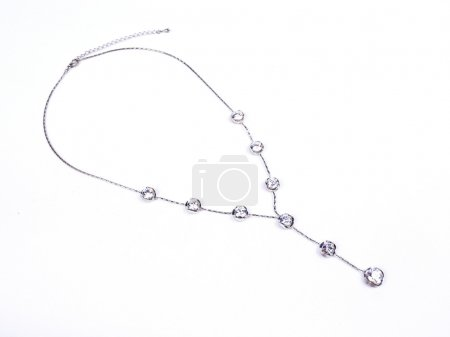 Necklace with crystal gems