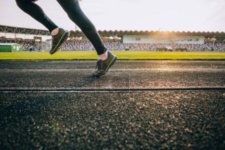 Runner legs on track