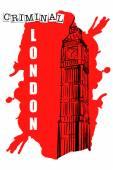 Big Ben Sketch on red Spot