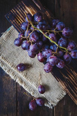 Fresh Purple Grapes