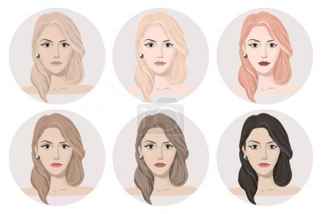 Woman round avatars