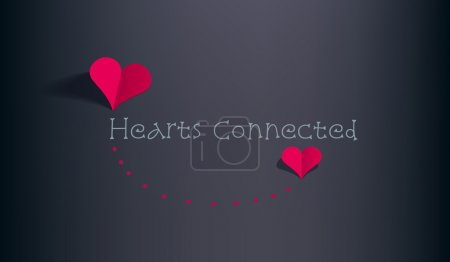 Illustration for Retro Valentine card with hearts - Royalty Free Image