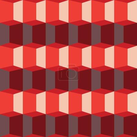 red glowing polygonal pattern.