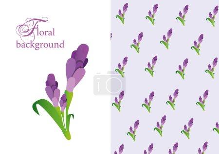 flower pattern lavanda