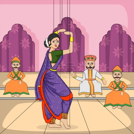 Vector design of colorful Rajasthani Puppet doing ...