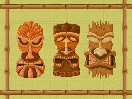 Hawaiian Tiki tribal mask