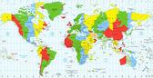 Podrobná mapa standard časových pásem