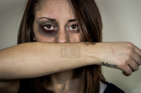 Stop violence against women concept