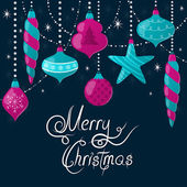 Marry christmas greeting card vector illustration