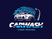 Logo car wash on dark background