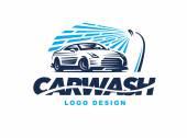 Logo car wash on light background