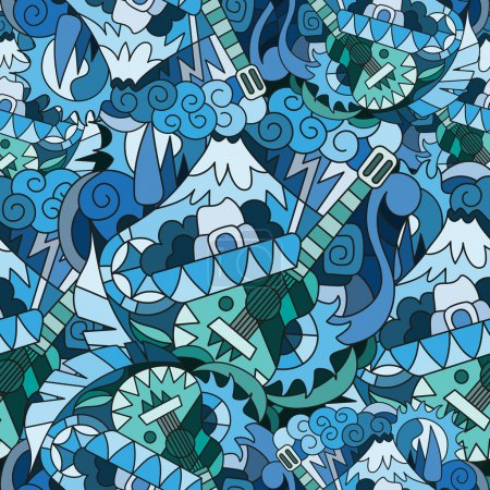 Seamless pattern in Mexican style