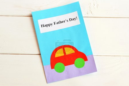 Greeting card father's day. Happy father's day. Kids crafts. Fathers day gifts and ideas