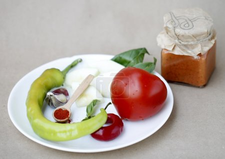 Sicilian tomato sauce with ingredients