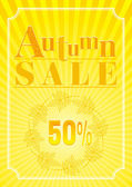 Vector illustration of abstract autumn background in modern elegant style for autumn sale design Sunny color falling leaves pattern