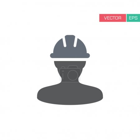 Worker Icon - Construction, Builder, Workman, Surveyor, Craftsman, Factory, Industry User Icon