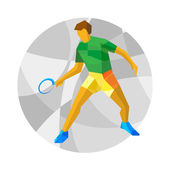 Table tennis player with abstrat patterns on gray mosaic background Flat athlete icon Sport Infographic - Table tennis vector clip art