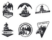 Set of ATV emblems badges and icons All-terrain vehicle