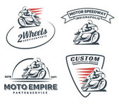 Vintage cafe racer motorcycle logo badges and emblems
