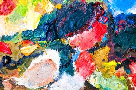 Ölfarben mehrfarbige Nahaufnahme abstrakten Hintergrund