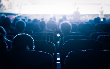 Cinema or theater in the auditorium,business backg...
