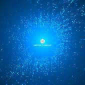 Consisting of blue particles abstract backgroundTechnological sense Illustrations