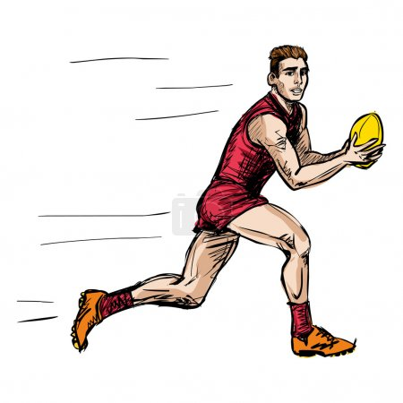 Australian rules football player (vector)
