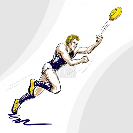 Aussie rules football player (vector)
