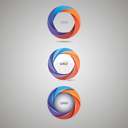 logo round blue color