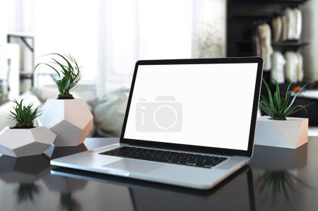 Laptop Mock-up in interior_08