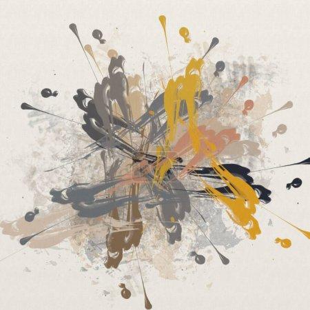 Photo pour Texture de traits de peinture colorée, taches floues avec des pinceaux de différentes tailles et formes. Aquarelle stylisée, huile grunge backgroundercolor, huile, fond grunge - image libre de droit